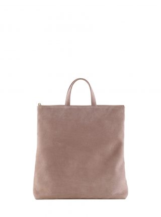 LUCID tote bag in blush pink nubuck leather | TSATSAS