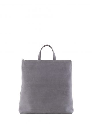 LUCID tote bag in medium grey nubuck leather | TSATSAS