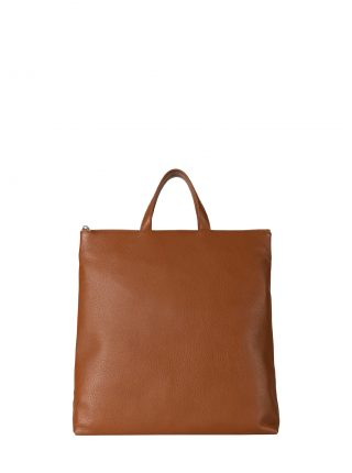LUCID tote bag in tan calfskin leather | TSATSAS