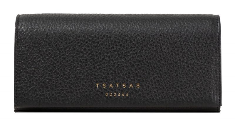 MALVA 1 bag in black calfskin leather | TSATSAS