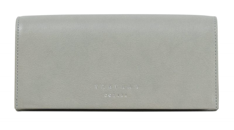 MALVA 1 bag in concrete grey calfskin leather | TSATSAS