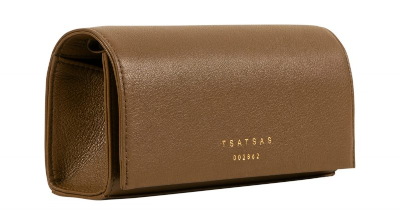 MALVA 1 bag in olive brown calfskin leather | TSATSAS