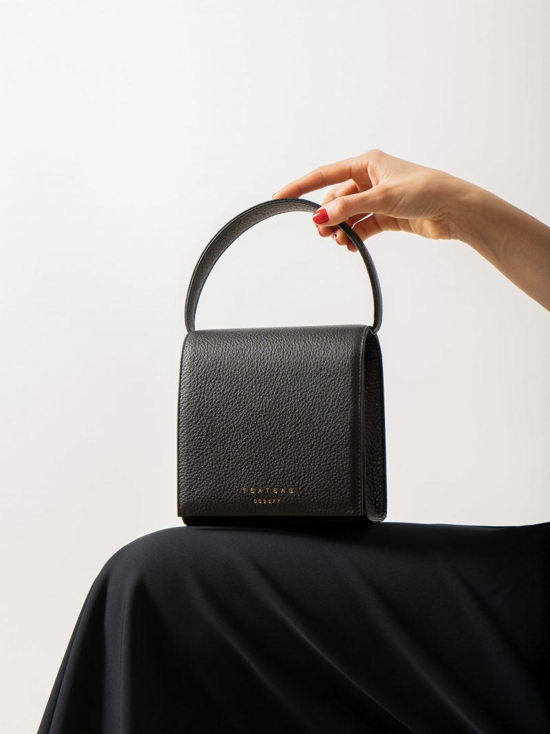 MALVA 2 handbag in black calfskin leather | TSATSAS