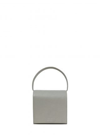 MALVA 2 handbag in concrete grey calfskin leather | TSATSAS