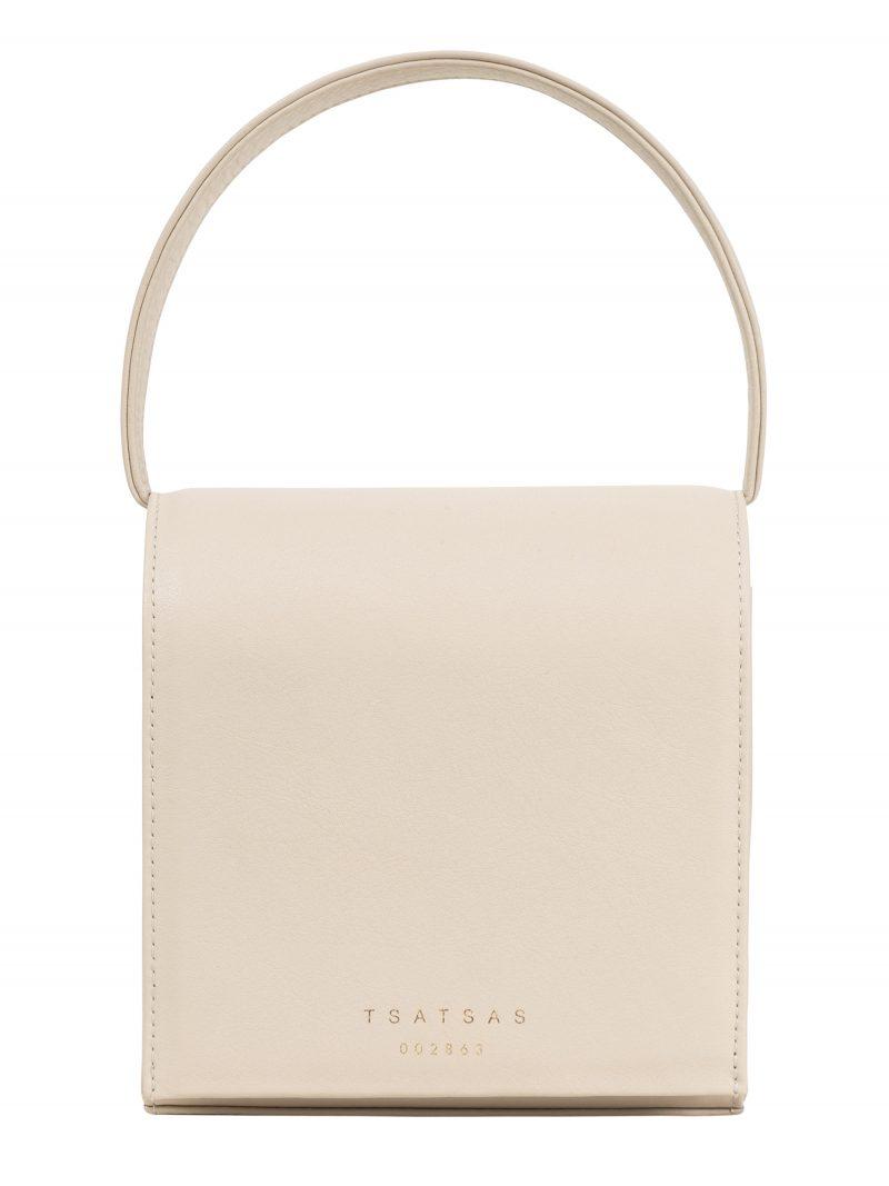 MALVA 2 hand bag in ivory calfskin leather | TSATSAS