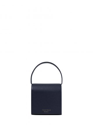 MALVA 2 handbag in navy blue calfskin leather | TSATSAS