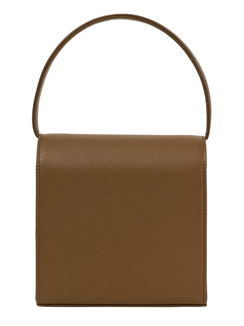 MALVA 2 hand bag in olive brown calfskin leather | TSATSAS