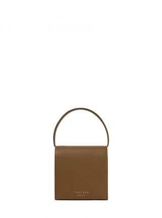 MALVA 2 handbag in olive brown calfskin leather | TSATSAS