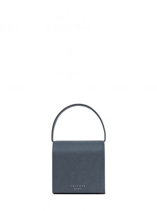 MALVA 2 handbag in slate blue calfskin leather | TSATSAS