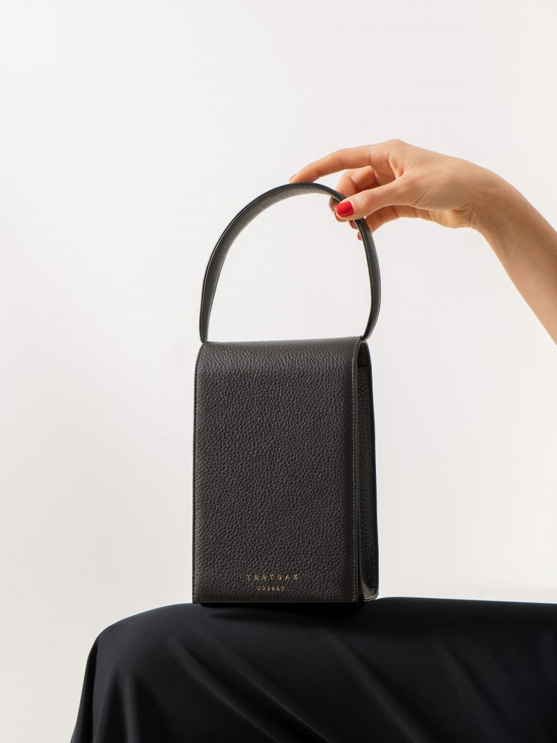 MALVA 3 handbag in black calfskin leather | TSATSAS