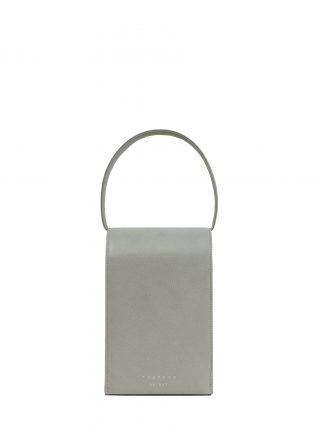 MALVA 3 handbag in concrete grey calfskin leather   TSATSAS
