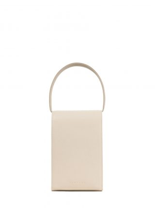 MALVA 3 handbag in ivory calfskin leather | TSATSAS