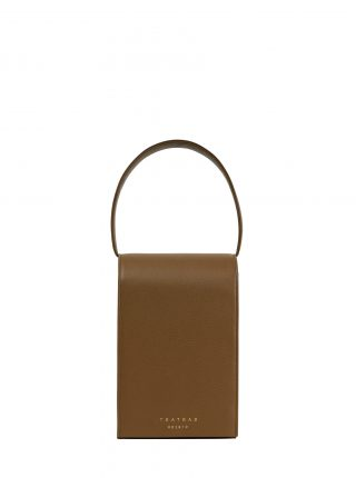 MALVA 3 handbag in olive brown calfskin leather | TSATSAS