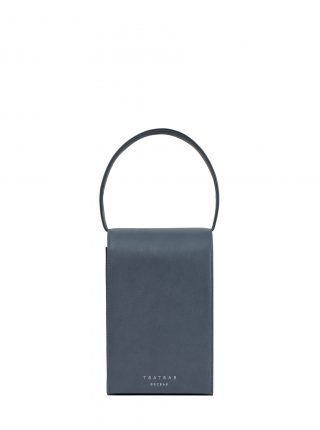 MALVA 3 handbag in slate blue calfskin leather | TSATSAS