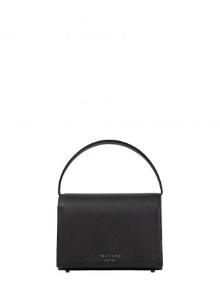 MALVA 4 handbag in black calfskin leather | TSATSAS