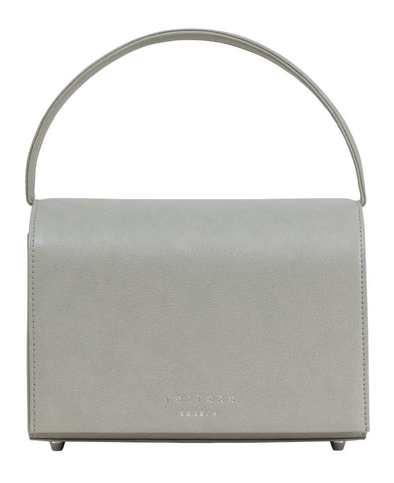 MALVA 4 handbag in concrete grey calfskin leather | TSATSAS