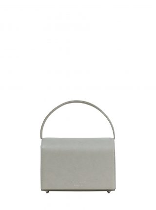 MALVA 4 handbag in concrete grey calfskin leather | TSATSAS