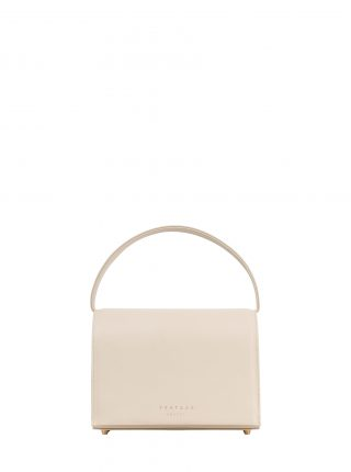 MALVA 4 handbag in ivory calfskin leather | TSATSAS