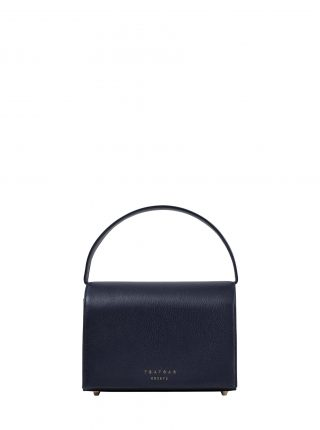 MALVA 4 handbag in navy blue calfskin leather | TSATSAS