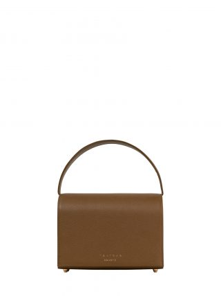 MALVA 4 handbag in olive brown calfskin leather | TSATSAS