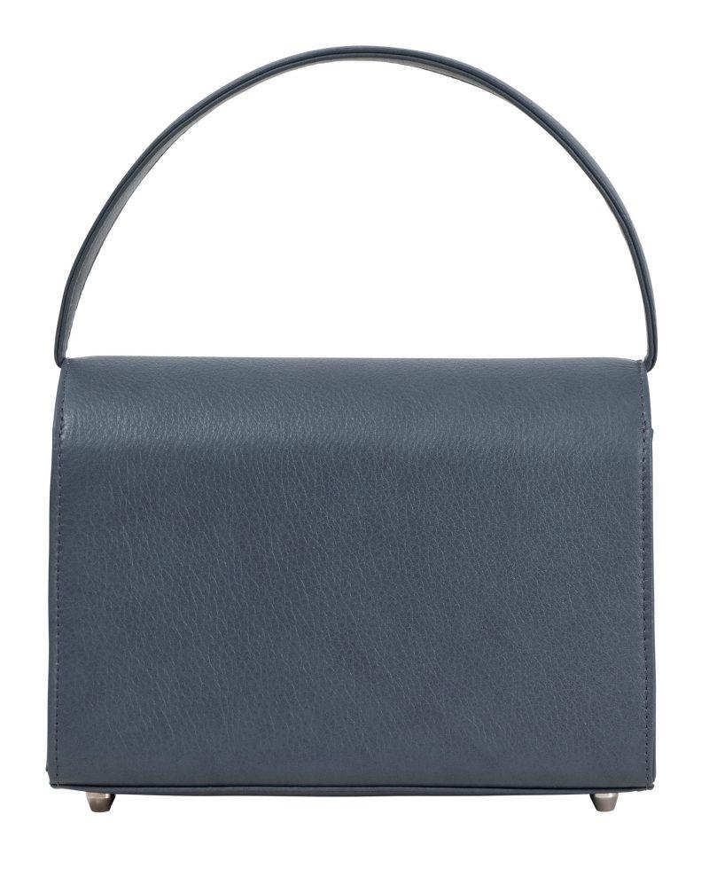 MALVA 4 handbag in slate blue calfskin leather | TSATSAS