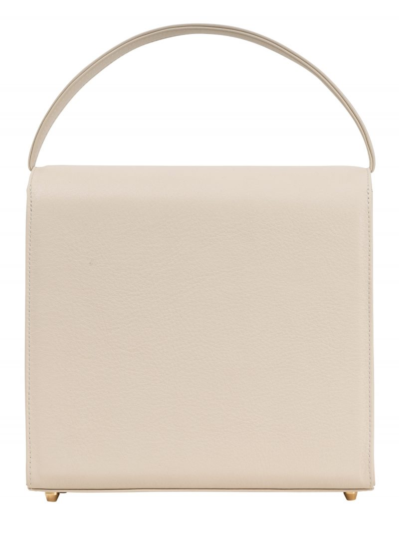 MALVA 5 hand bag in ivory calfskin leather | TSATSAS