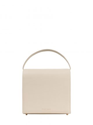 MALVA 5 handbag in ivory calfskin leather | TSATSAS