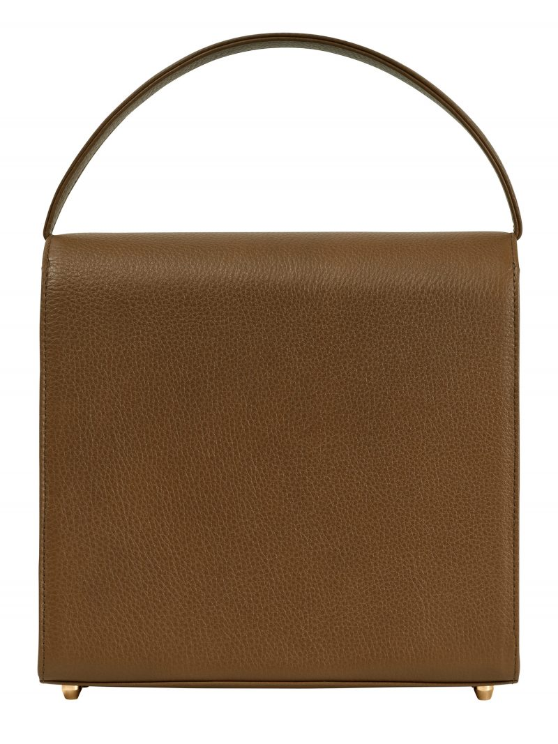 MALVA 5 hand bag in olive brown calfskin leather | TSATSAS