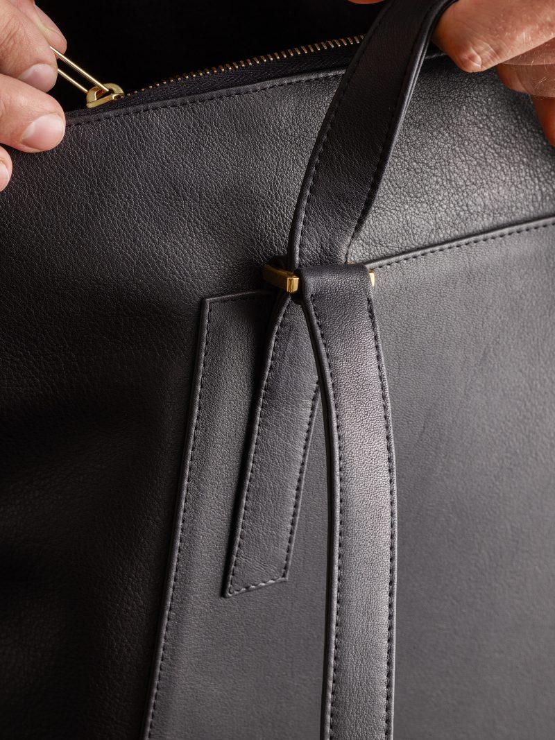 MARSH backpack in black calfskin leather   TSATSAS