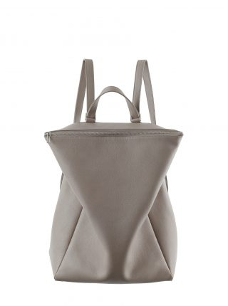 MARSH backpack in grey calfskin leather | TSATSAS