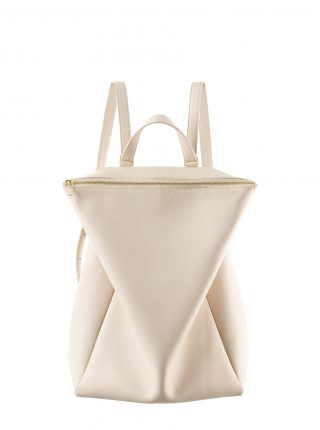 MARSH backpack in ivory calfskin leather | TSATSAS