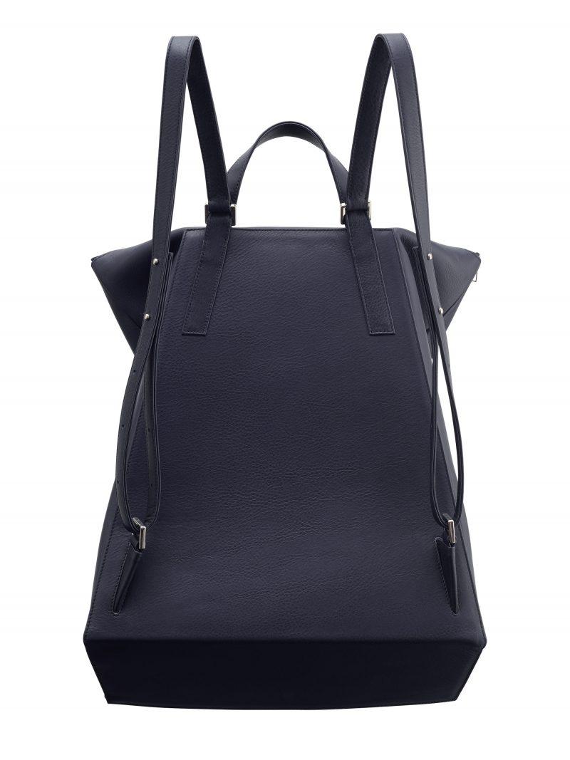 MARSH backpack in navy blue calfskin leather   TSATSAS