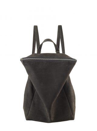 MARSH backpack in black grey nubuck leather | TSATSAS