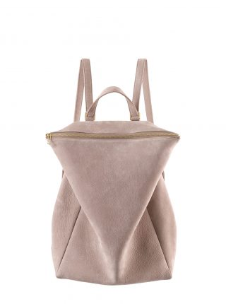 MARSH backpack in blush nubuck leather | TSATSAS