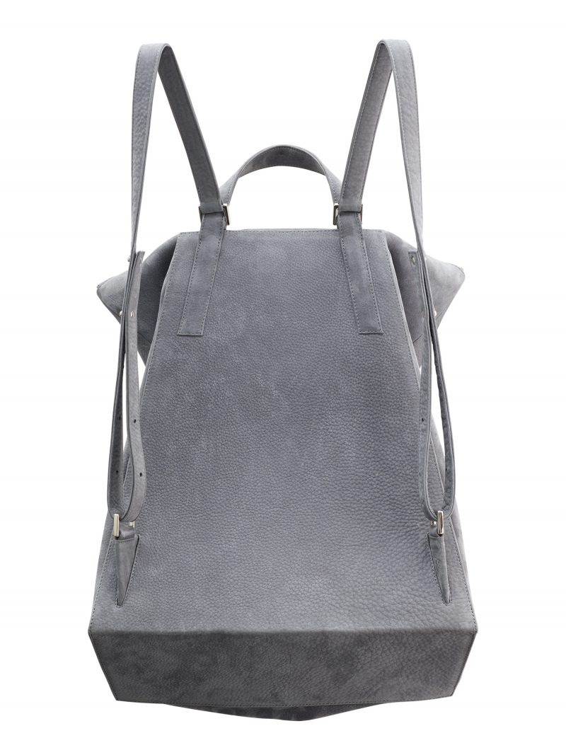 MARSH backpack in medium grey nubuck leather | TSATSAS