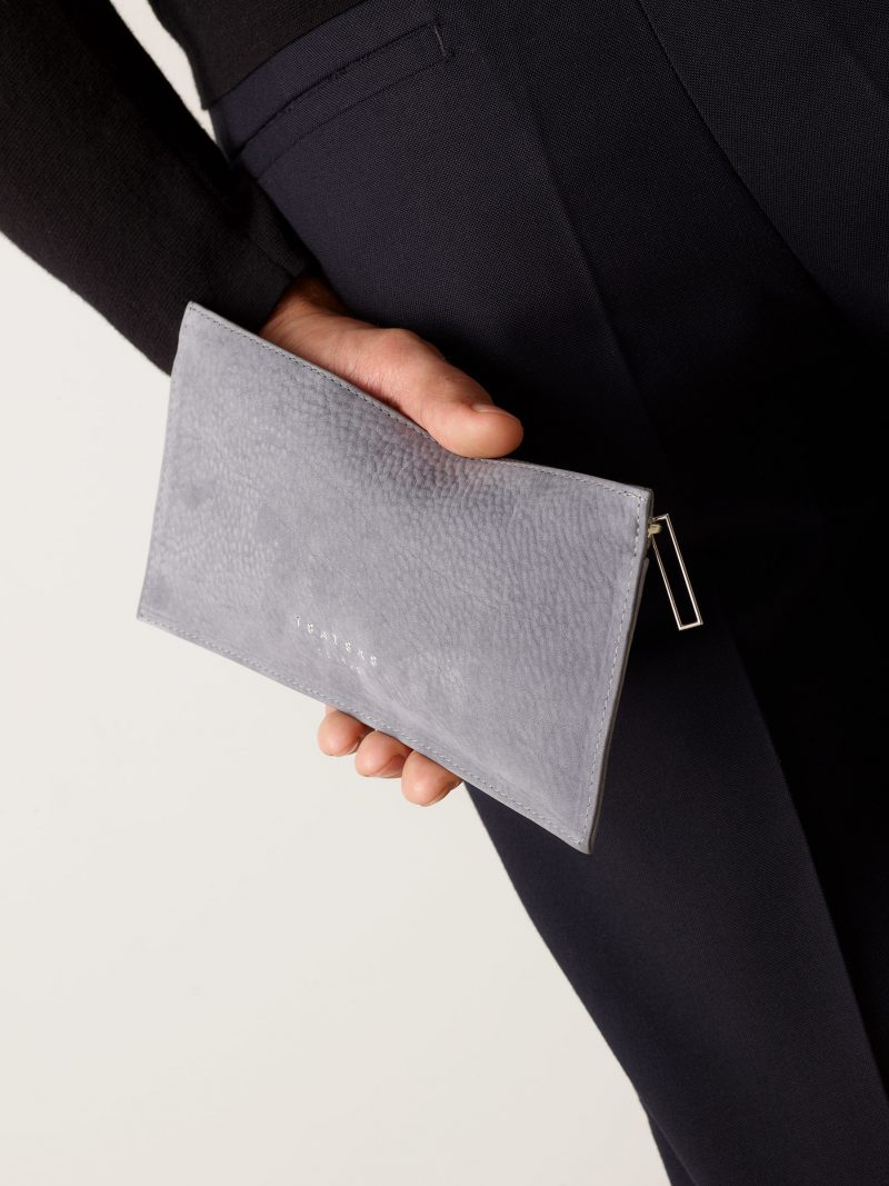 MATTER 1 case in medium grey nubuck leather | TSATSAS