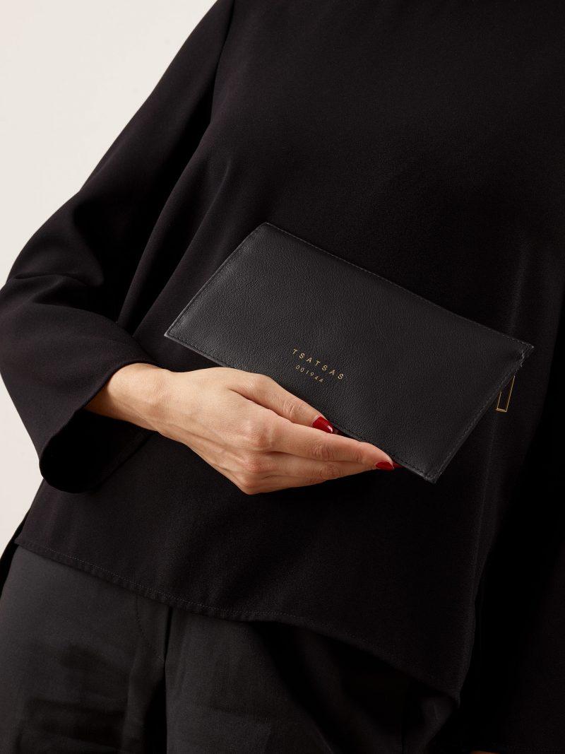 MATTER 1 case in black calfskin leather | TSATSAS