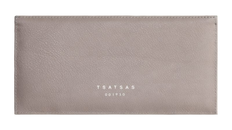 MATTER 1 case in grey calfskin leather | TSATSAS