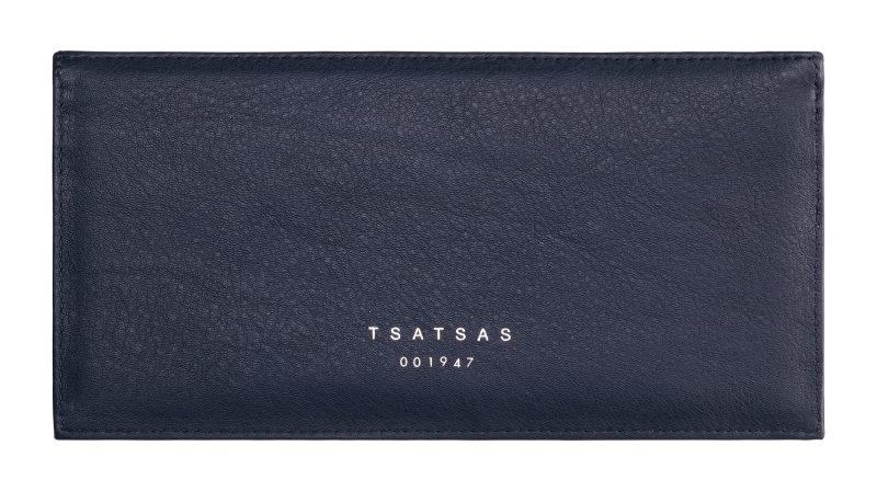 MATTER 1 case in navy blue calfskin leather   TSATSAS