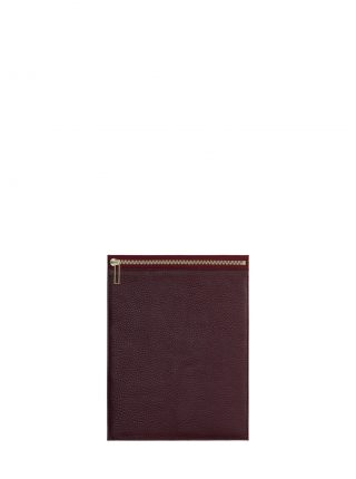 MATTER 2 case in burgundy calfskin leather | TSATSAS