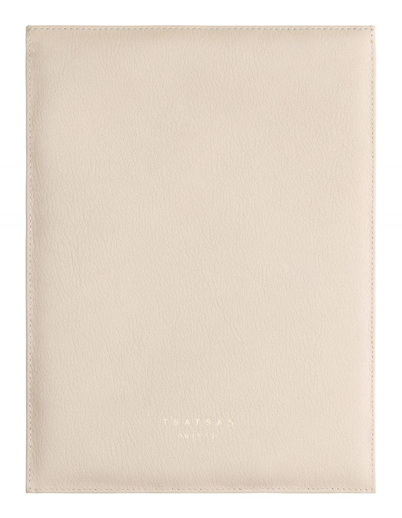 MATTER 2 case in ivory calfskin leather | TSATSAS