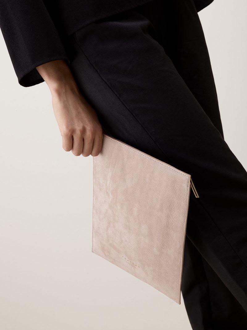 MATTER 2 case in blush pink nubuck leather | TSATSAS