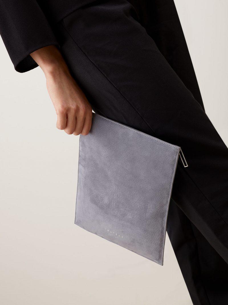 MATTER 2 case in medium grey nubuck leather | TSATSAS