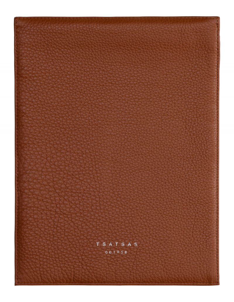 MATTER 2 case in tan calfskin leather | TSATSAS
