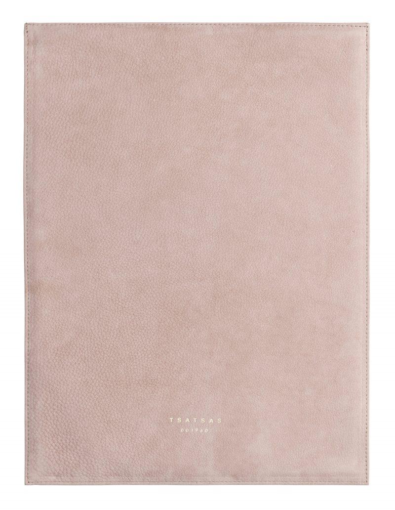 MATTER 3 case in blush pink nubuck leather | TSATSAS