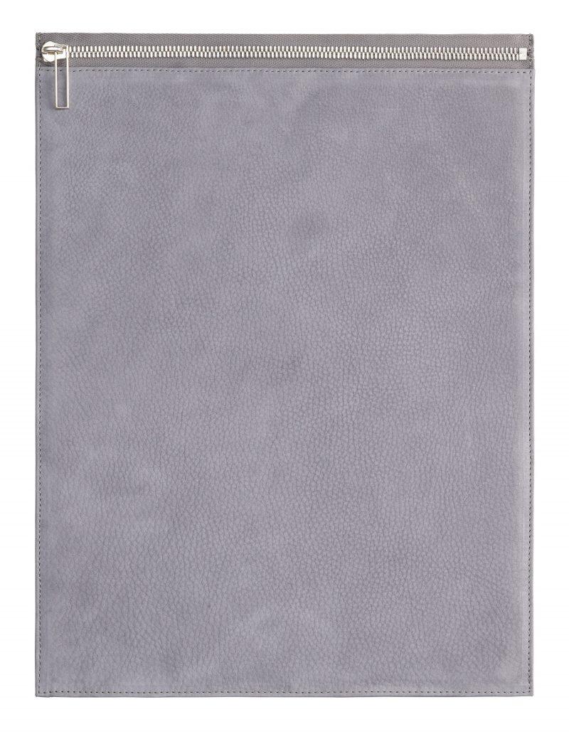 MATTER 3 case in medium grey nubuck leather   TSATSAS
