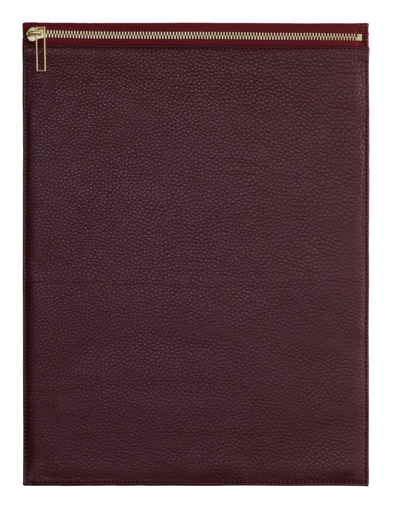 MATTER 3 case in burgundy calfskin leather | TSATSAS