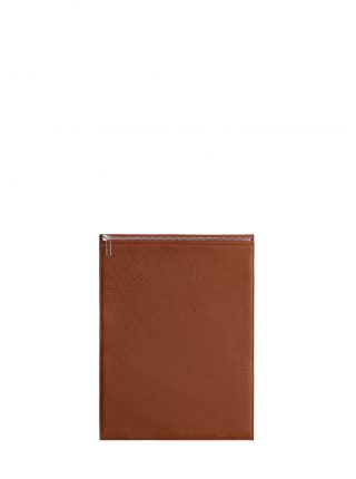 MATTER 3 case in tan calfskin leather | TSATSAS