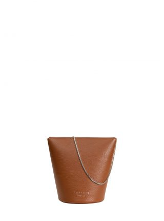 OLIVE shoulder bag in tan calfskin leather | TSATSAS