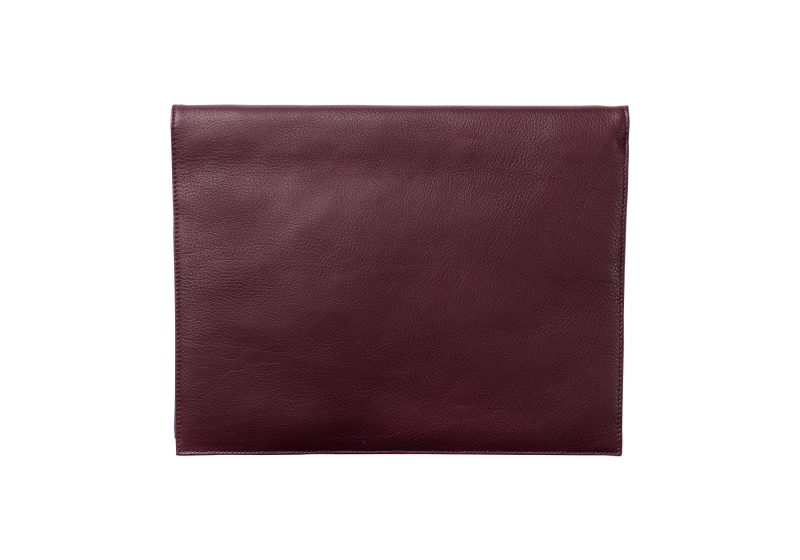 OTHER ONE pouch bag in burgundy calfskin leather | TSATSAS